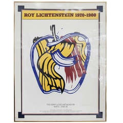 Signed Roy Lichtenstein Apple Poster for St. Louis Museum of Art