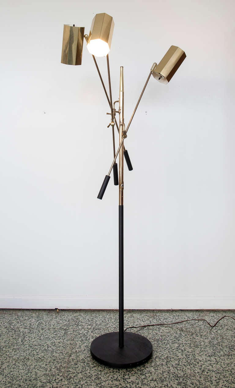2 Vintage Mid Century Floor Lamp By Robert Sonneman At 1stdibs