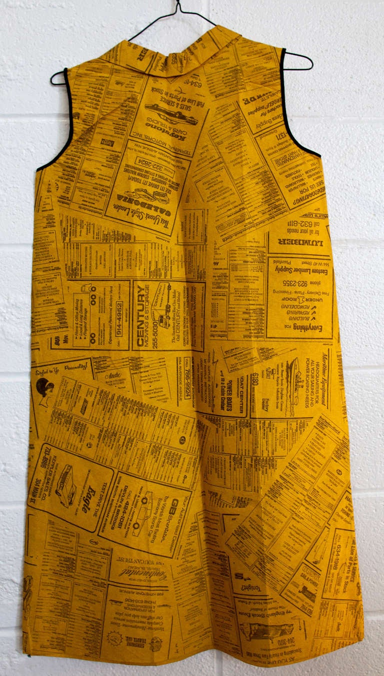 Rolex 3 Day Event >> Vintage Yellow Pages Paper Dress Disposable Dress Rare Pop