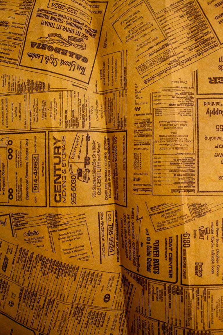 Vintage Yellow Pages Paper Dress Disposable Dress Rare Pop