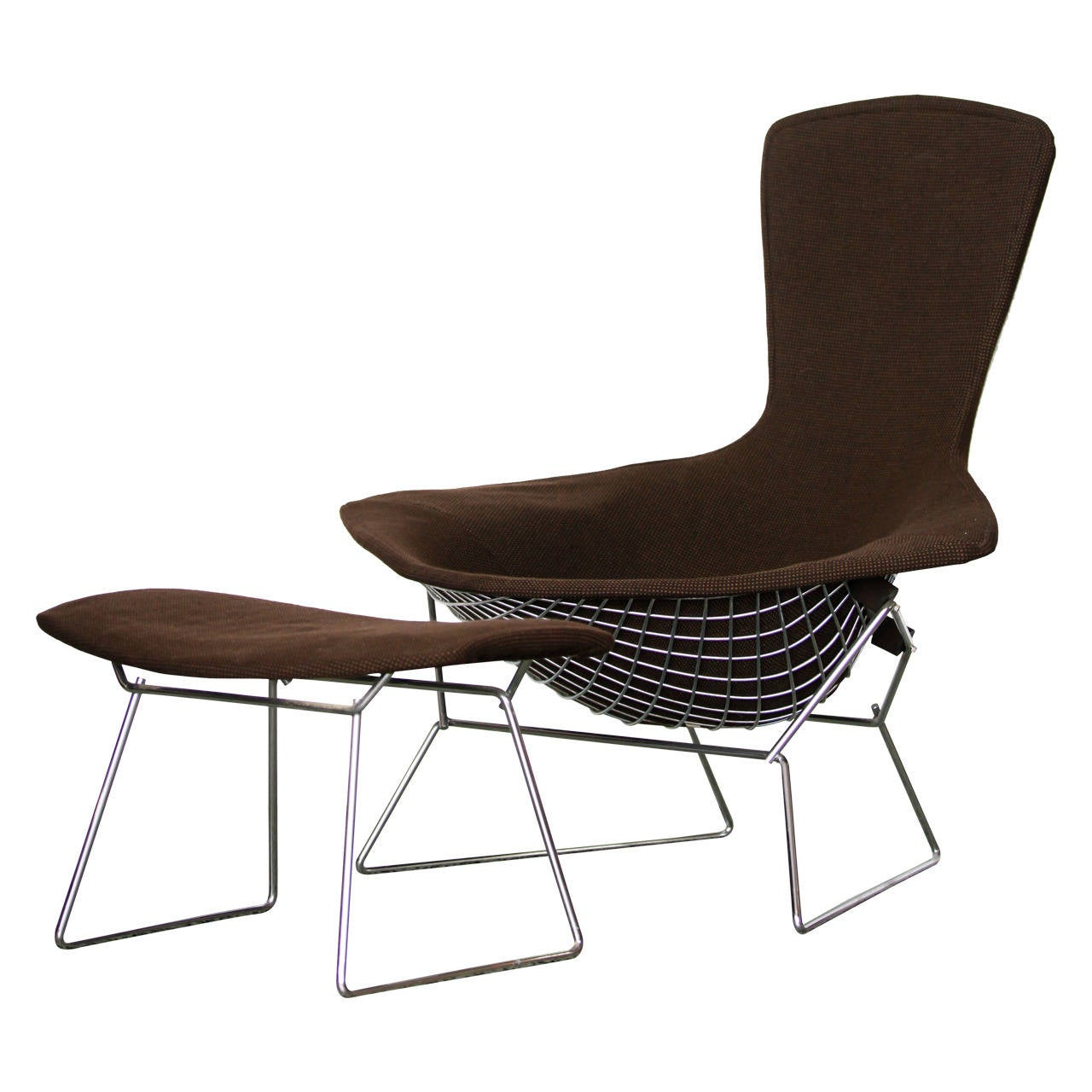 Bird Chair And Ottoman By Harry Bertoia For Knoll At 1stdibs