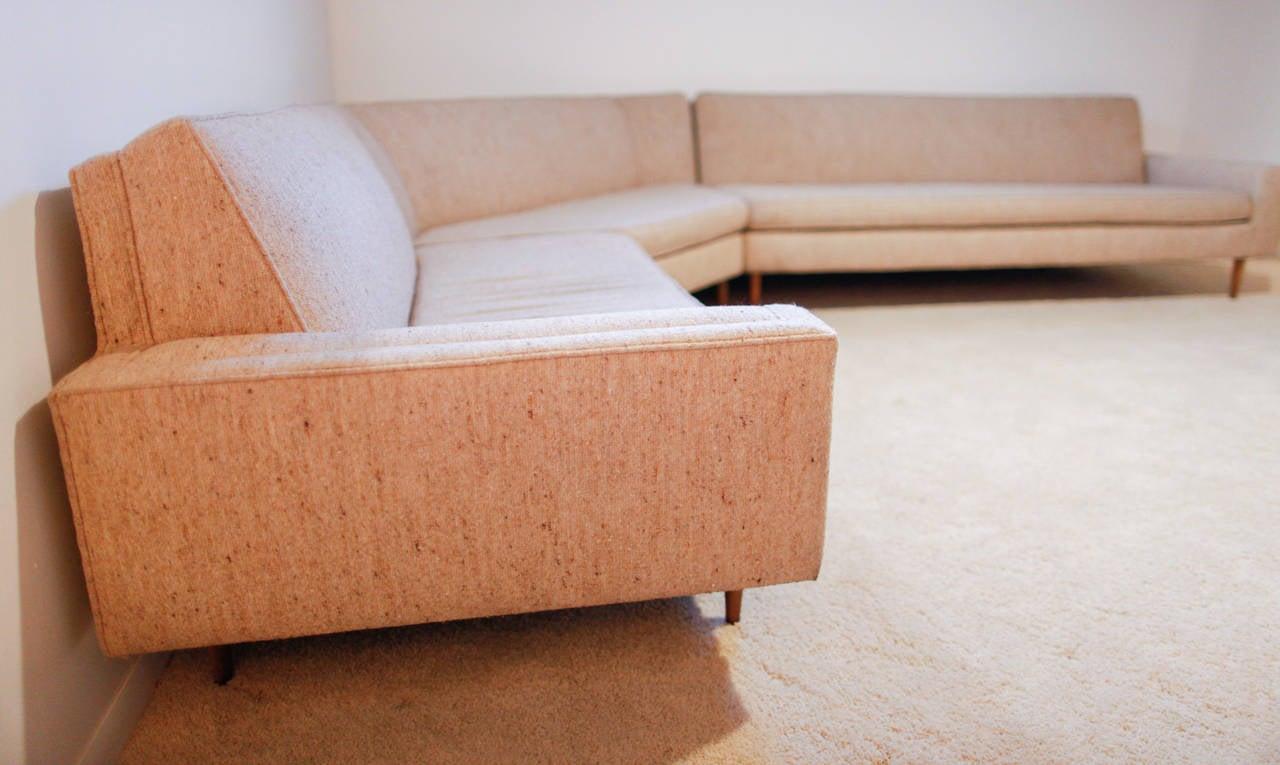 Mid-Century Modern Harvey Probber Three-Piece Sectional Sofa For Sale