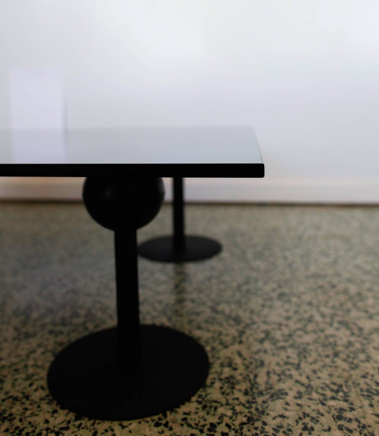Black Modern Metal And Glass Coffee Table At 1stdibs