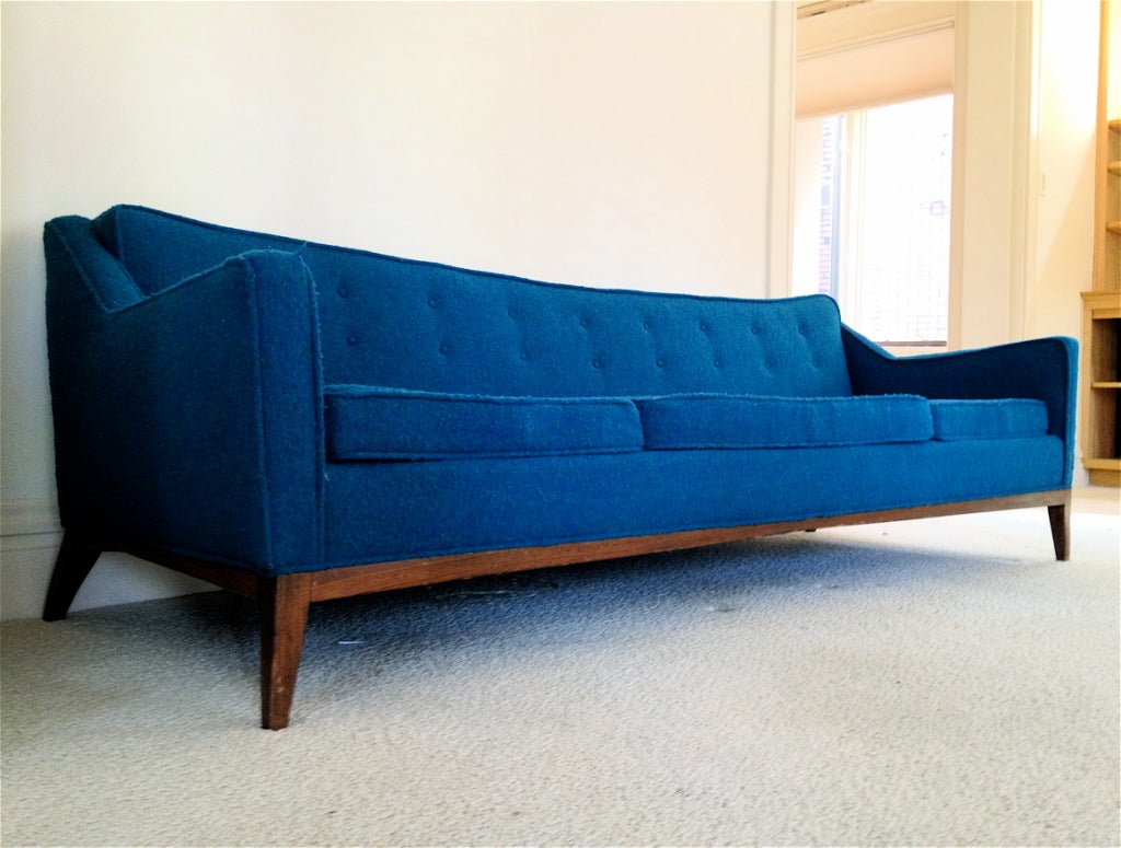 jens risom mid century sofa at 1stdibs. Black Bedroom Furniture Sets. Home Design Ideas
