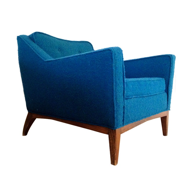 Jens Risom Mid Century Modern Lounge Chair at 1stdibs