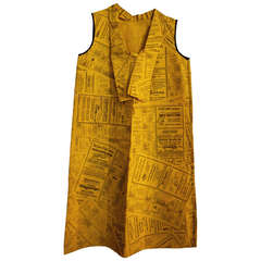 Vintage Yellow Pages Paper Dress Disposable Dress Rare Pop Art 1966