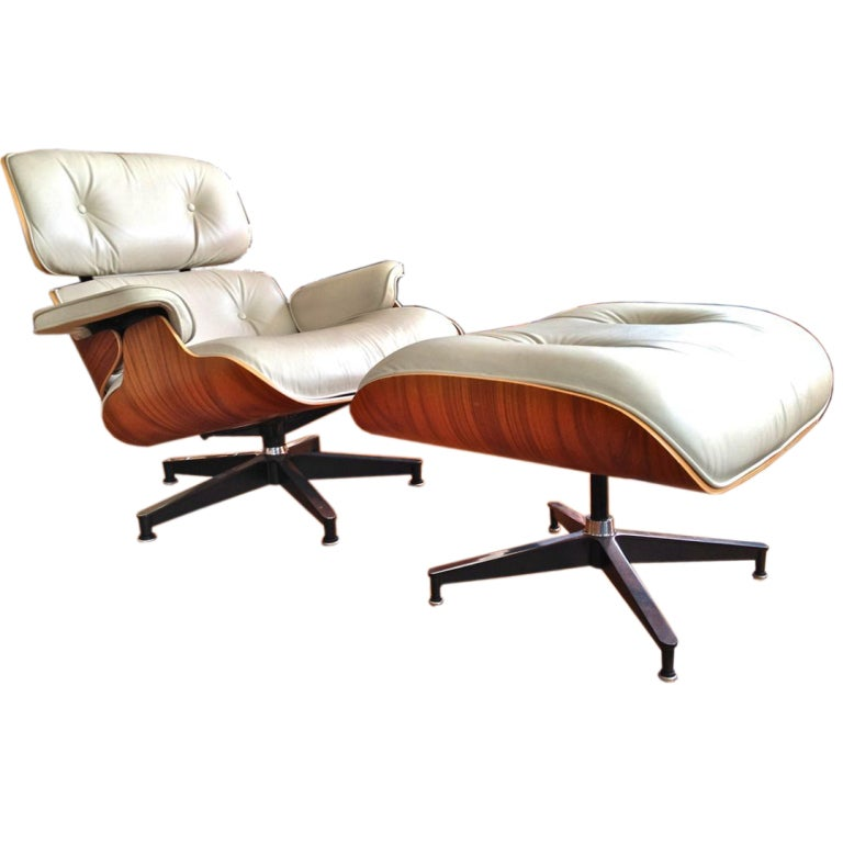 Herman Miller Charles Eames Lounge Chair Ottoman at 1stdibs