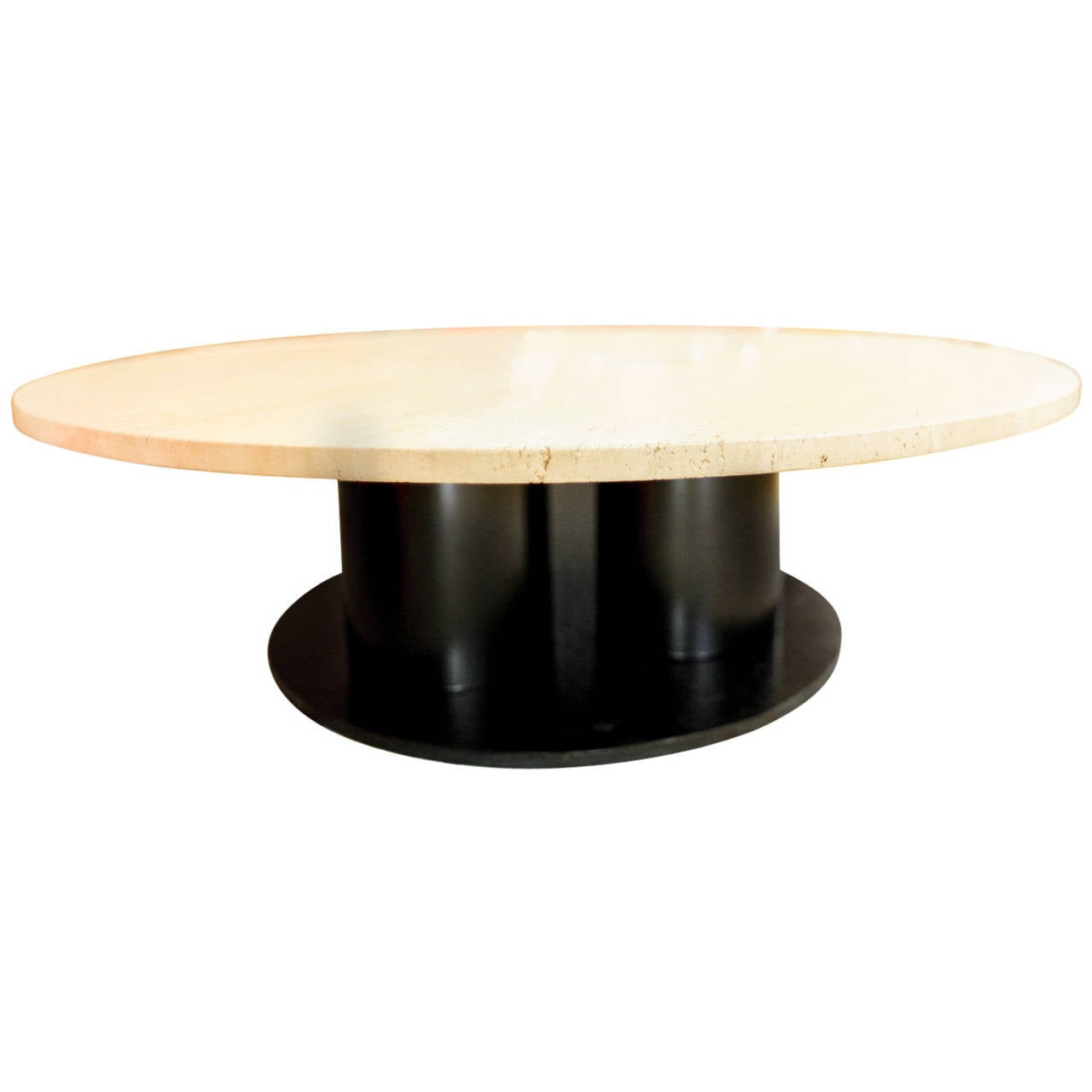 Organic Travertine Top Coffee Table At 1stdibs