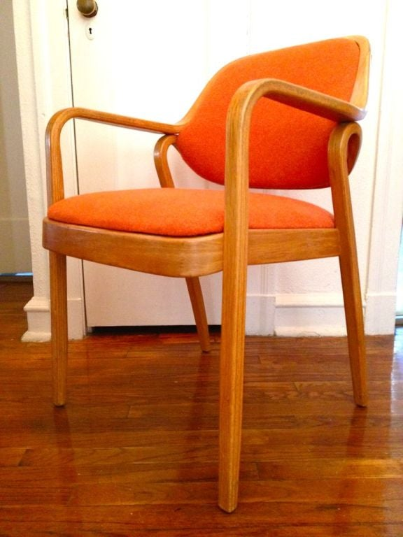 Pair Don Pettit Arm Chairs For Knoll At 1stdibs