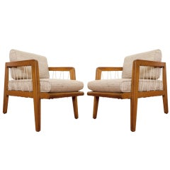 Pair of Rare Edward Wormley lounge chairs