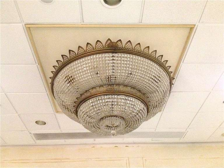 Antique Glass Crystal Chandelier 3