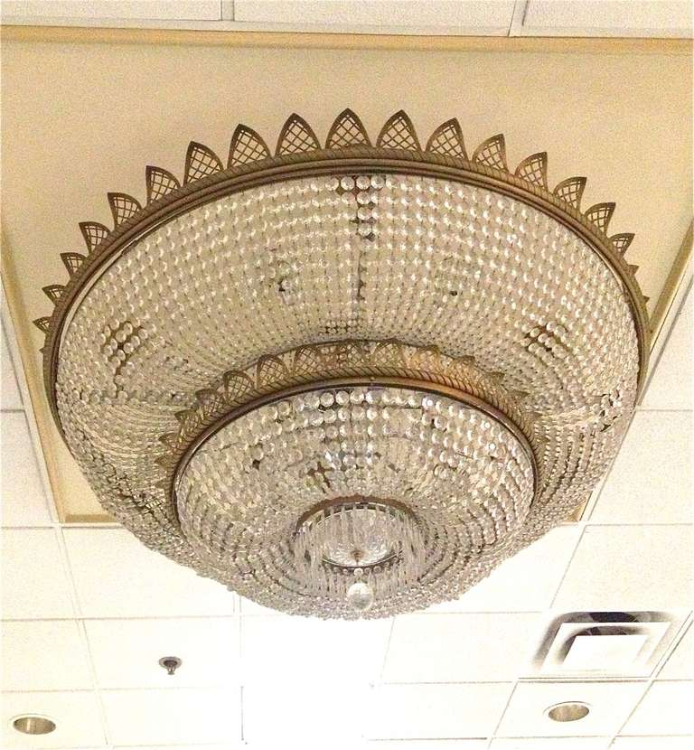 Antique Glass Crystal Chandelier 2