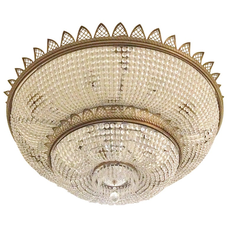 Antique Glass Crystal Chandelier 1