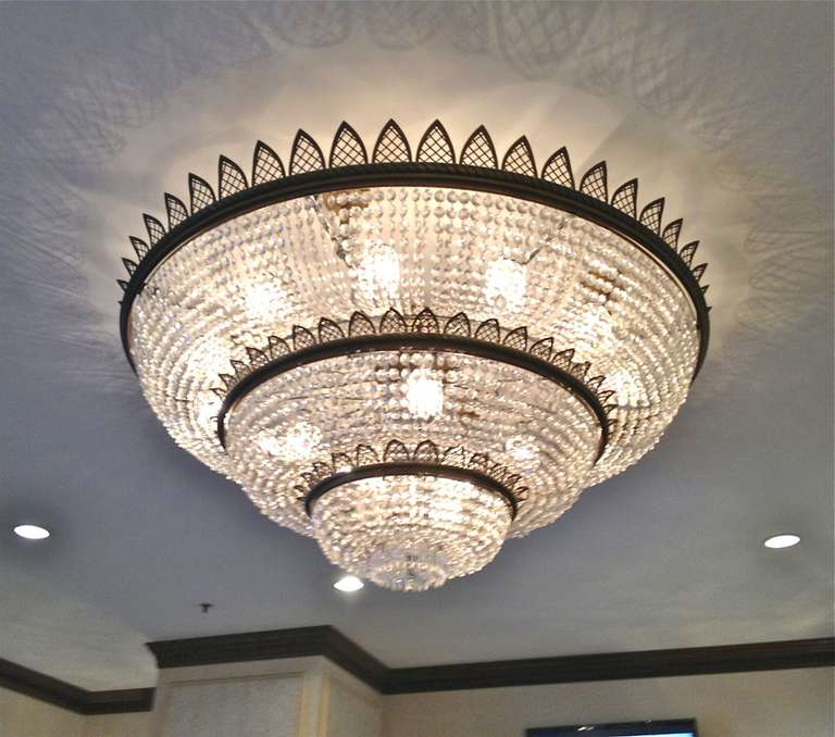 Antique Glass Crystal Chandelier 5