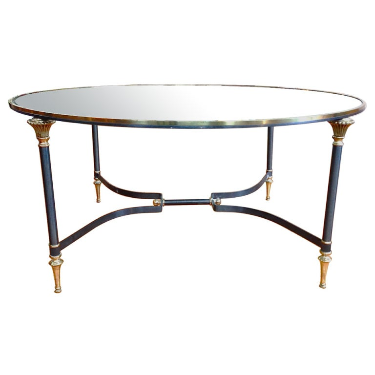 Round Labarge Style Coffee Table At 1stdibs