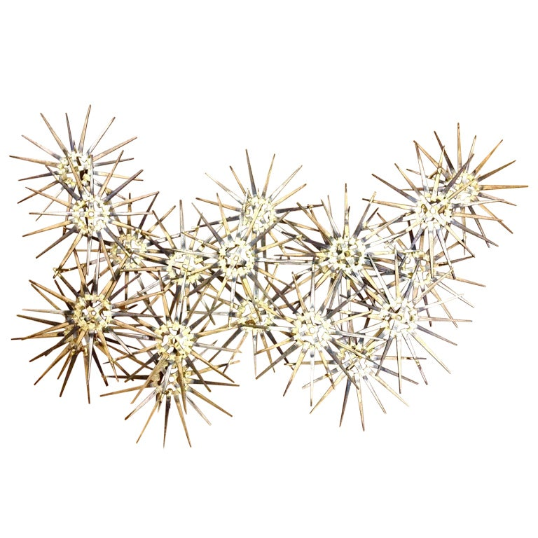large starburst wall sculpture by marc weinstein at 1stdibs. Black Bedroom Furniture Sets. Home Design Ideas
