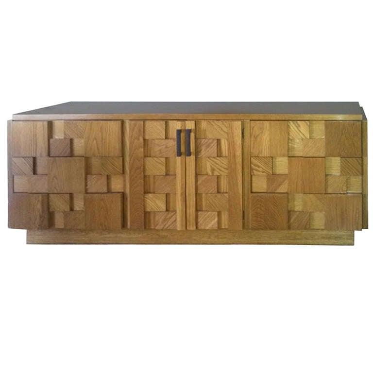 Paul Evans Inspired Brutalist Mosiac Bedroom Dresser Set