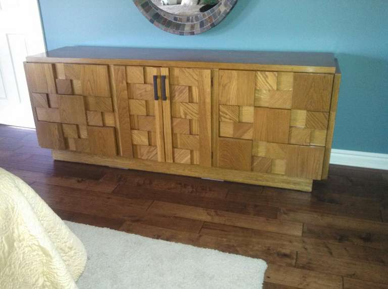 Paul Evans Inspired Brutalist Mosiac Bedroom Dresser Set From Lane 2