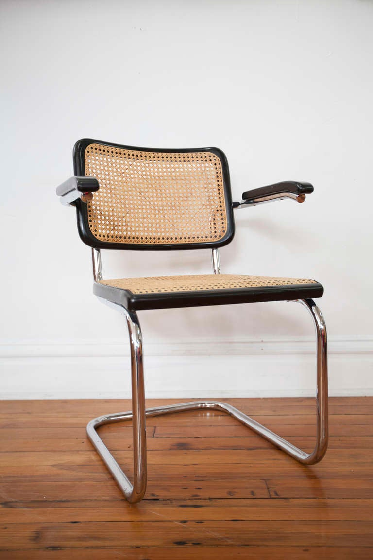 4 cesca arm chairs by marcel breuer at 1stdibs. Black Bedroom Furniture Sets. Home Design Ideas