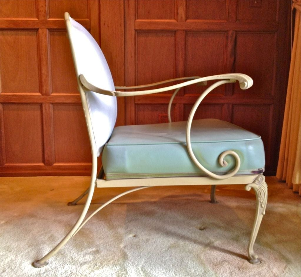 Pair Vintage Woodard Garden Chairs 1940 S At 1stdibs
