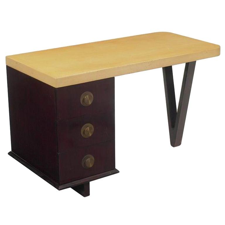 Paul Frankl Mahogany Desk with Cork Top at 1stdibs : XXX915113528478591 from 1stdibs.com size 768 x 768 jpeg 29kB