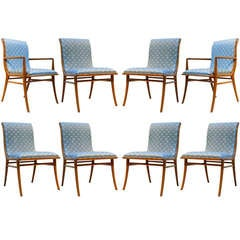 Robsjohn-Gibbings for Widdicomb Set of 8 Saber Leg Dining Chairs