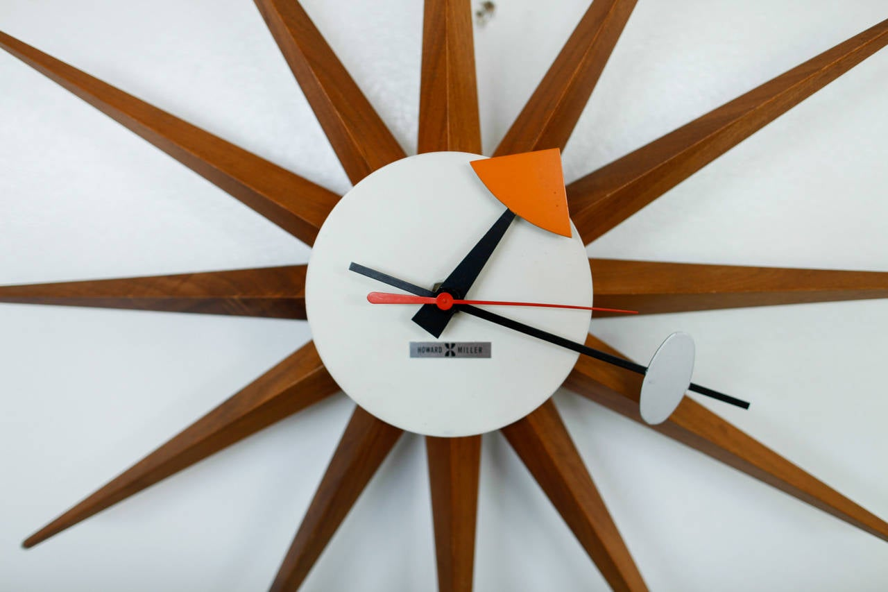 George nelson howard miller starburst wall clock at 1stdibs for Nelson wall clock