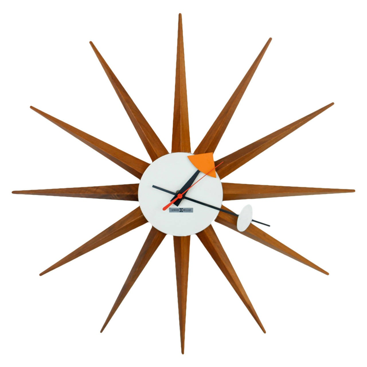 George nelson howard miller starburst wall clock for Nelson wall clock