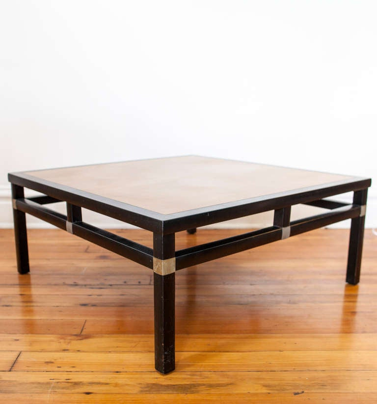 Mid Centuy Asian Inspired Square Coffee Table At 1stdibs