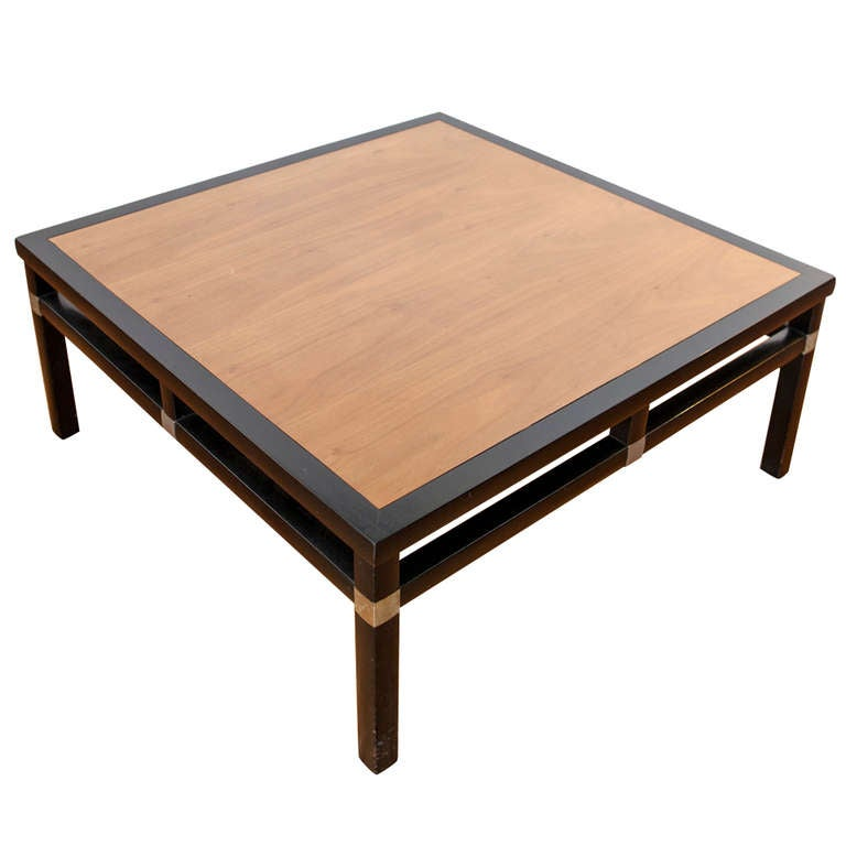 Mid Centuy Asian Inspired Square Coffee Table