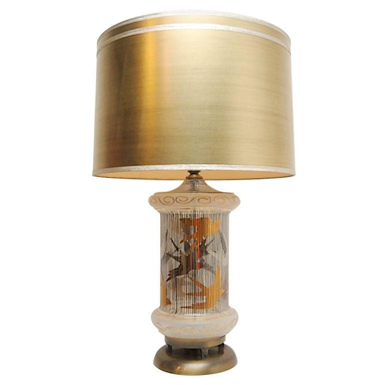 mid century glass bird table lamp at 1stdibs. Black Bedroom Furniture Sets. Home Design Ideas