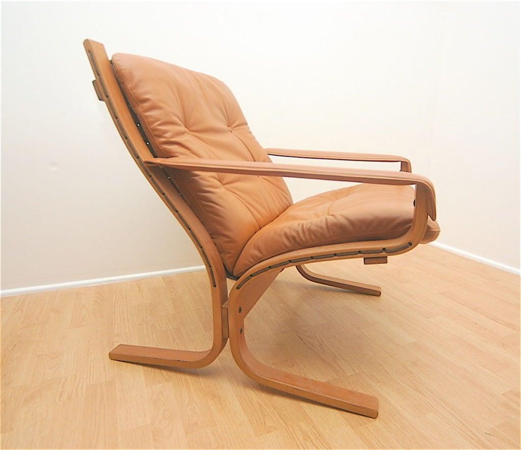Norwegian Ingmar Relling Westnofa Siesta Leather Lounge Chair For Sale