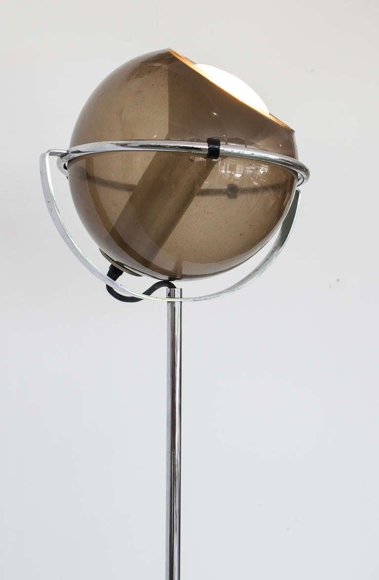 Mid Century Chrome And Glass Eyeball Floor Lamp At 1stdibs