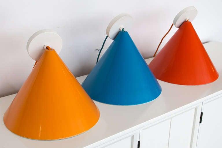 Three Stunning Arne Jacobsen Pendants by Louis Poulsen For Sale 1