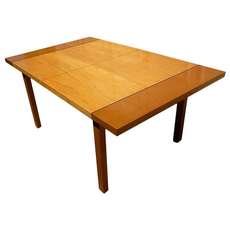 brown saltman van keppel green birch dining table at 1stdibs