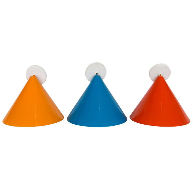 Three Stunning Arne Jacobsen Pendants by Louis Poulsen For Sale