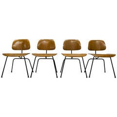 Set of Four Eames for Evans Molded Plywood DCM Dining Chairs