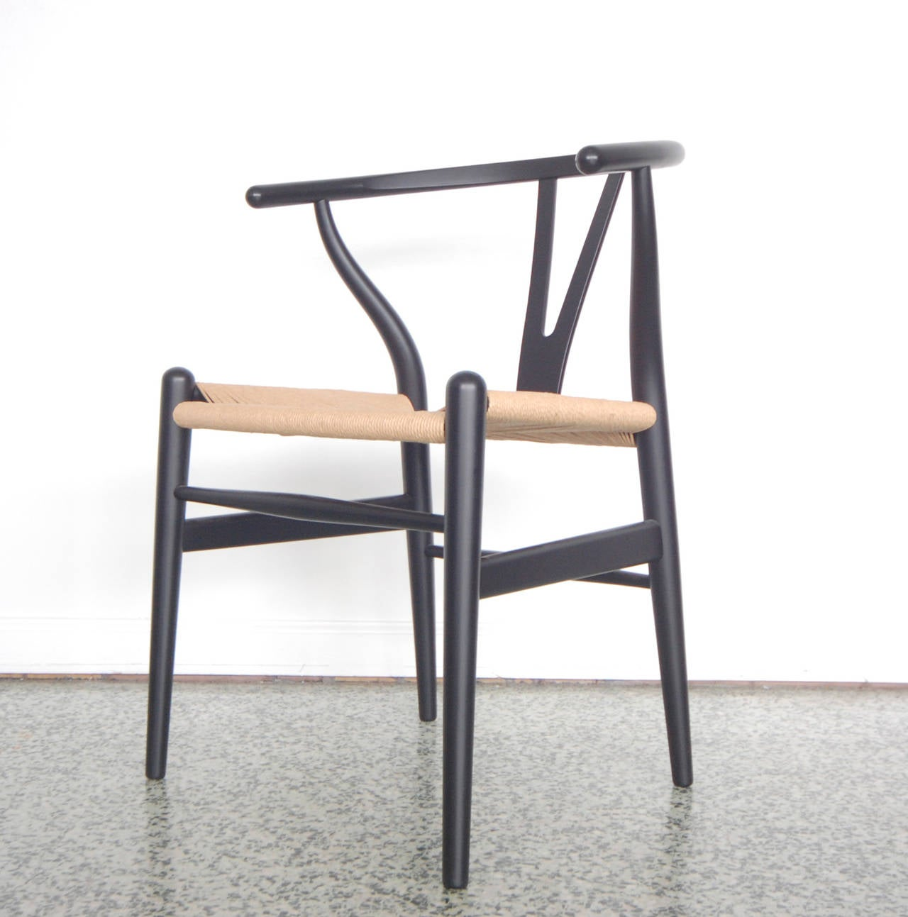 set of four hans wegner wishbone chairs ch24 at 1stdibs
