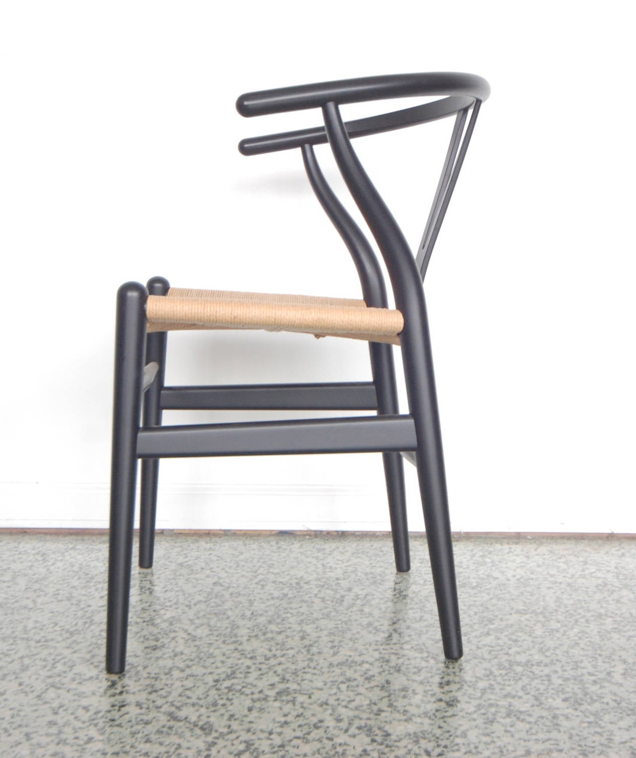 Set of Four Hans Wegner Wishbone Chairs CH24 at 1stdibs