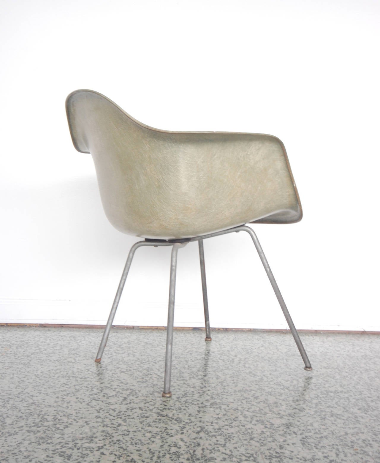 Mid-Century Modern Eames SAX Armchair by Zenith Plastics for Herman Miller For Sale
