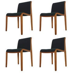 Set of Four Knoll Chairs Designed by Bill Stephens