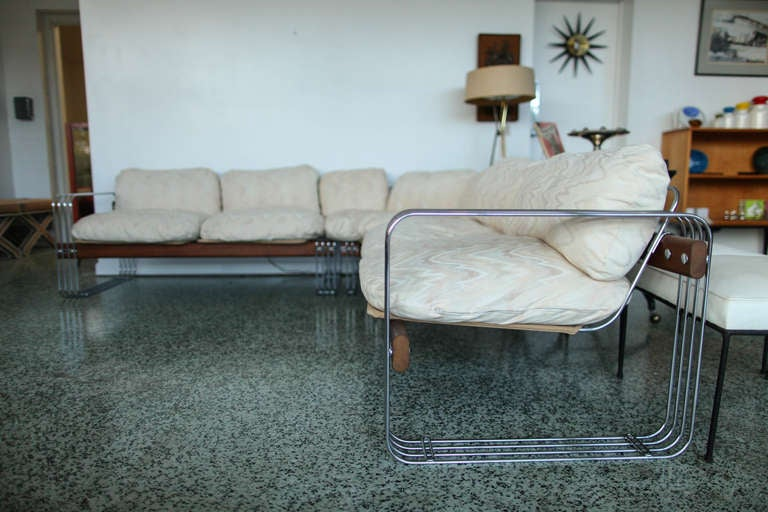 Vintage Robert Haussmann Stendig Sofa Couch Sectional At