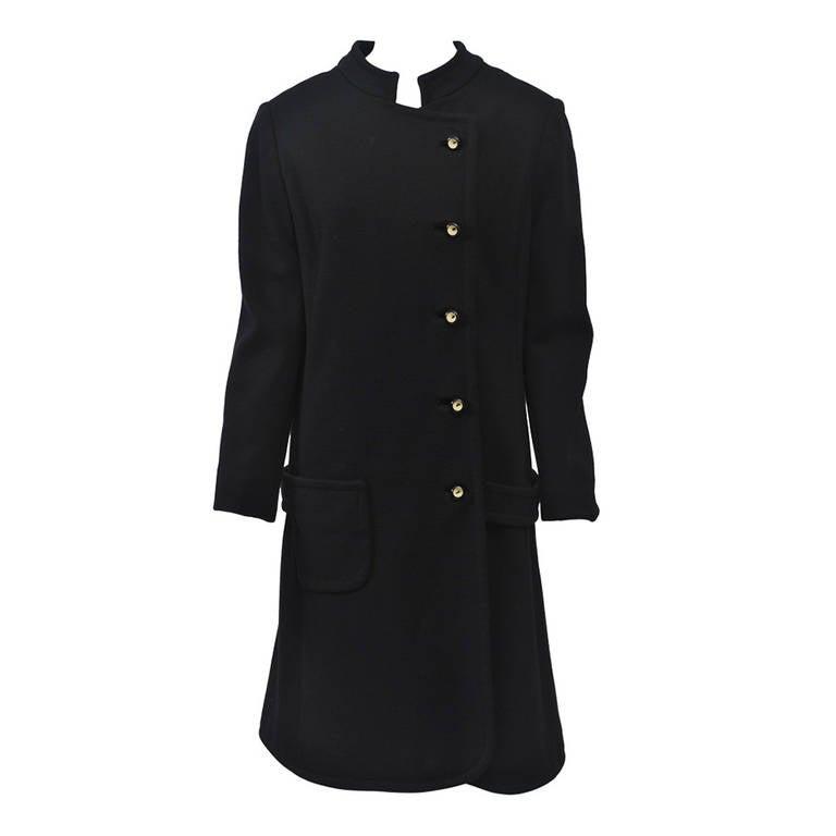 Mam'selle Black Knit Coat