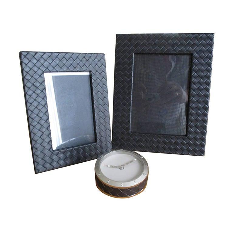 bottega veneta s black leather intrecciato desk accessories at 1stdibs