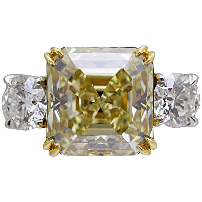 GIA Natural Fancy Yellow Diamond Solitaire