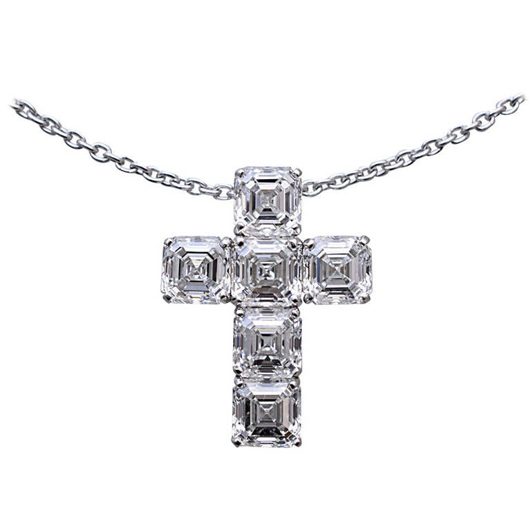 Nally GIA Diamond Cross 1