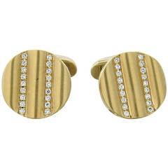 Victor Mayer Diamond Gold Cufflinks