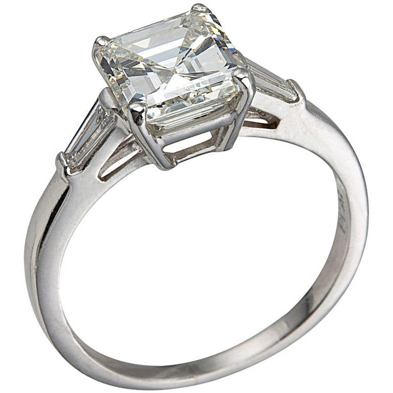 2 02 carat square emerald cut with tapered