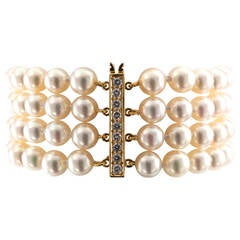 Tiffany & Co. Cultured Pearl Diamond Bracelet
