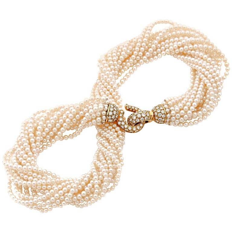 Cartier Cultured Pearl Collier Torsade Necklace